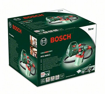 bosch diy farbspr hsystem pfs 3000 2 viel zubeh r lackierpistole im test. Black Bedroom Furniture Sets. Home Design Ideas