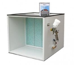 T4W Lackierer - Arbeitstisch mit Absaugvorrichtung mini lackierkabine (59241)